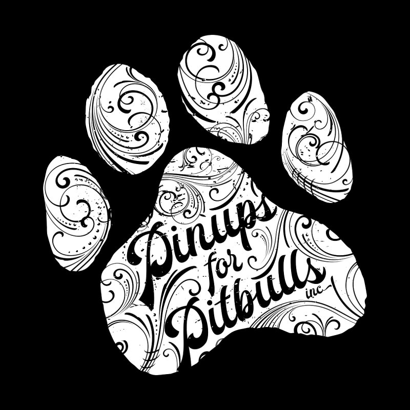 Pinups for Pitbulls Paw Print by Pittie Chicks