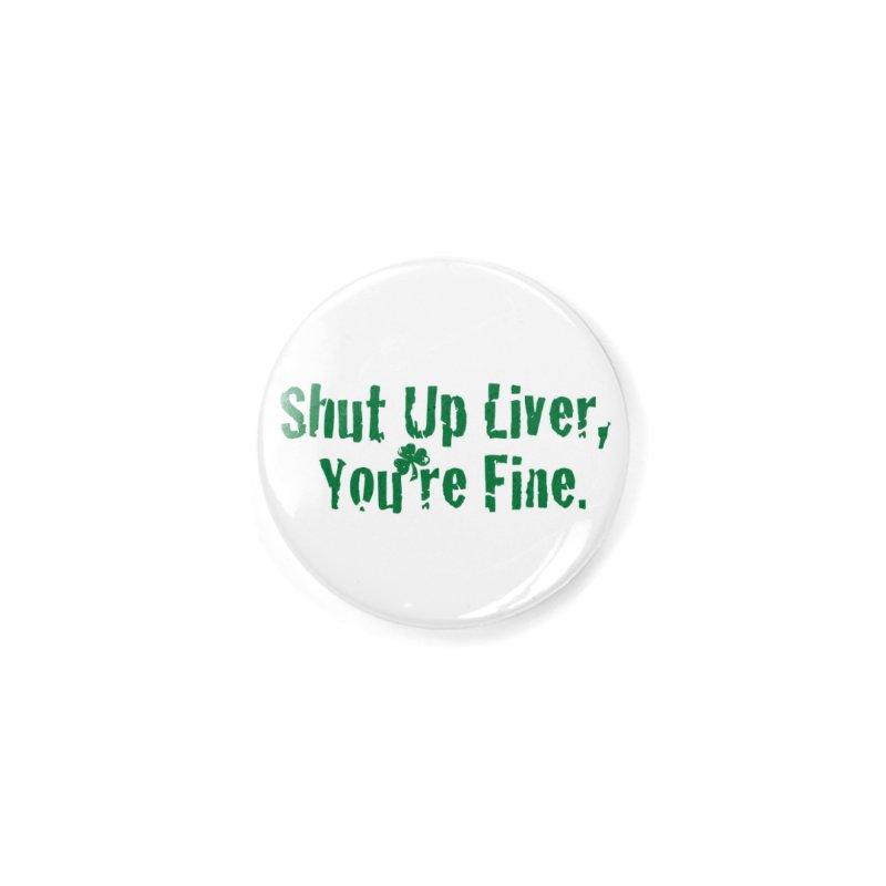 Liver Schmivver Raglan Accessories Button by Pittie Chicks