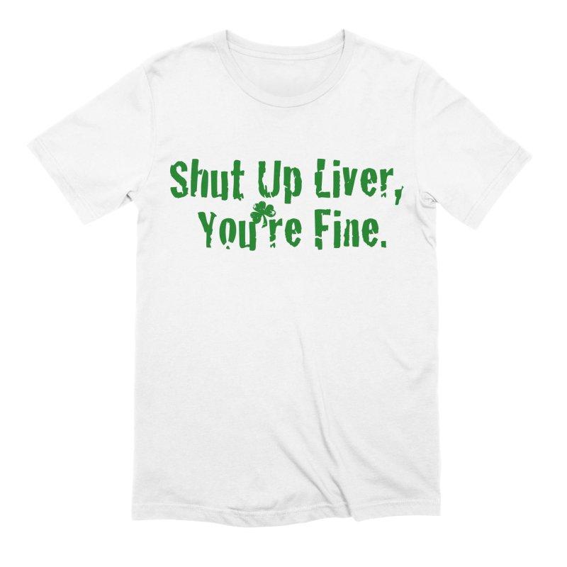 Liver Schmivver Men's Extra Soft T-Shirt by Pittie Chicks