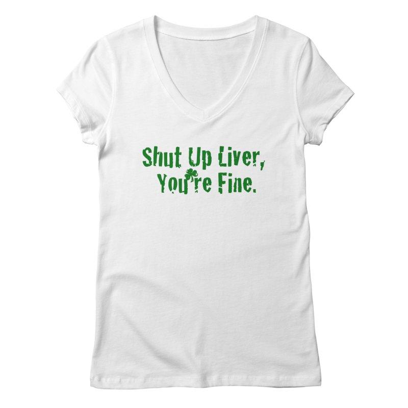 Liver Schmivver Women's Regular V-Neck by Pittie Chicks