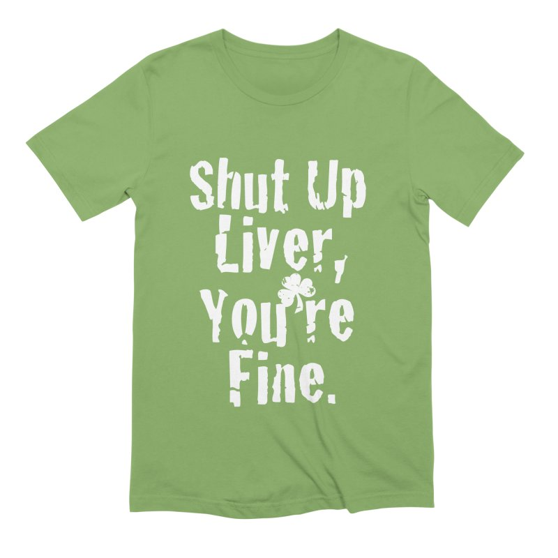 Liver Schmivver Drinking Tee Men's Extra Soft T-Shirt by Pittie Chicks