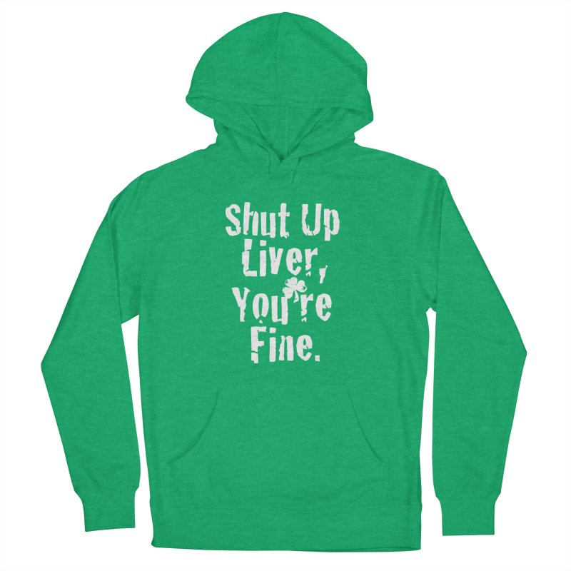 Liver Schmivver Drinking Tee Men's French Terry Pullover Hoody by Pittie Chicks
