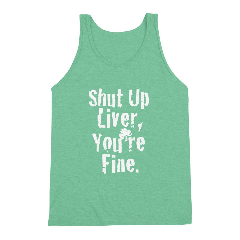Liver Schmivver Drinking Tee Men's Triblend Tank by Pittie Chicks