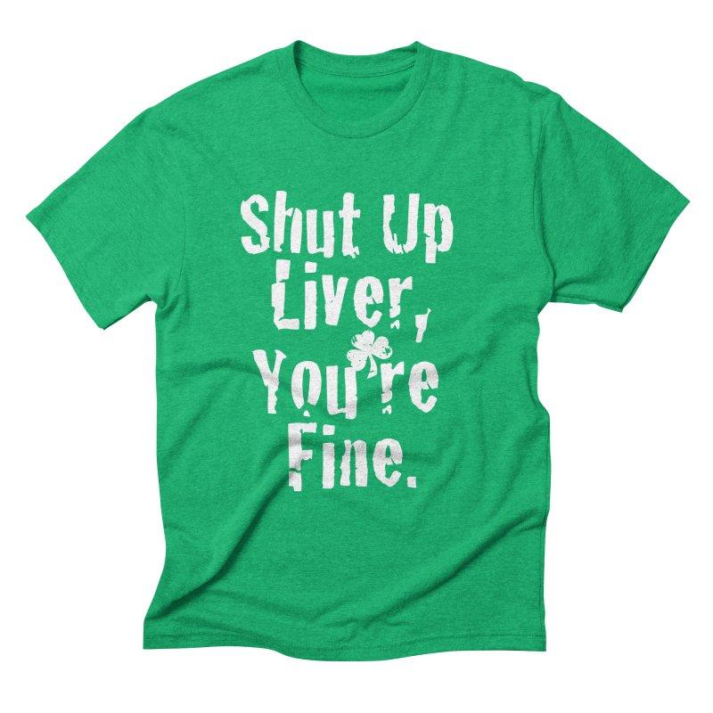 Liver Schmivver Drinking Tee Men's Triblend T-Shirt by Pittie Chicks