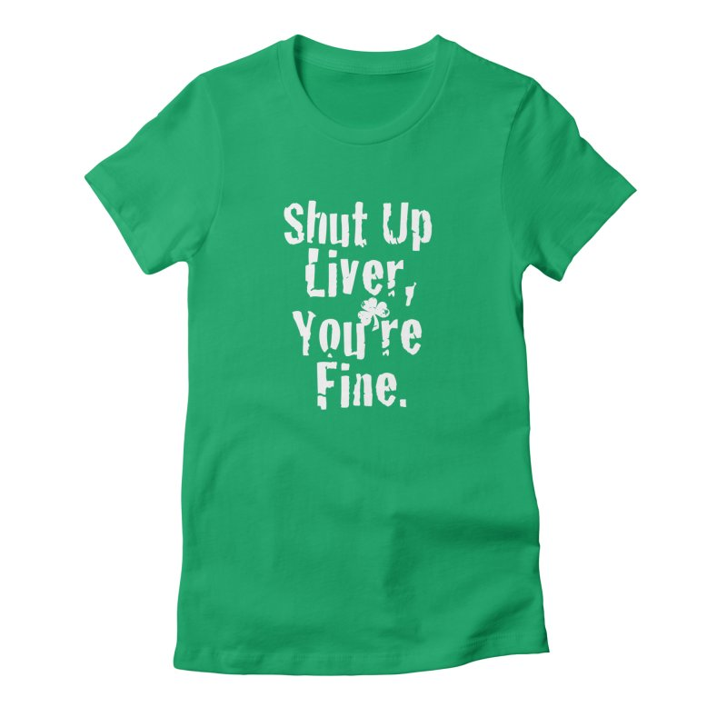 Liver Schmivver Drinking Tee Women's T-Shirt by Pittie Chicks