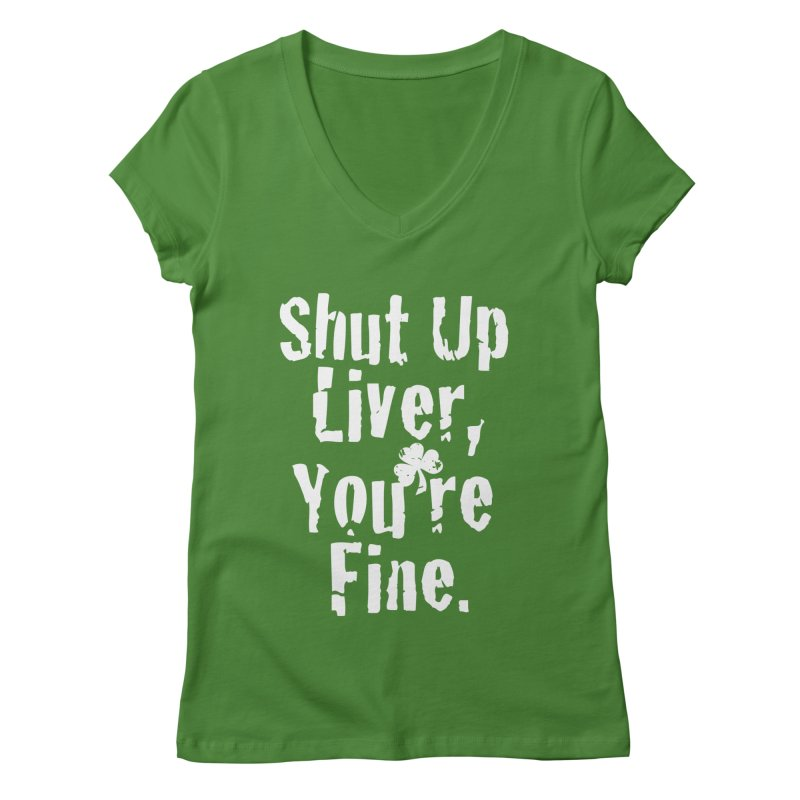 Liver Schmivver Drinking Tee Women's V-Neck by Pittie Chicks