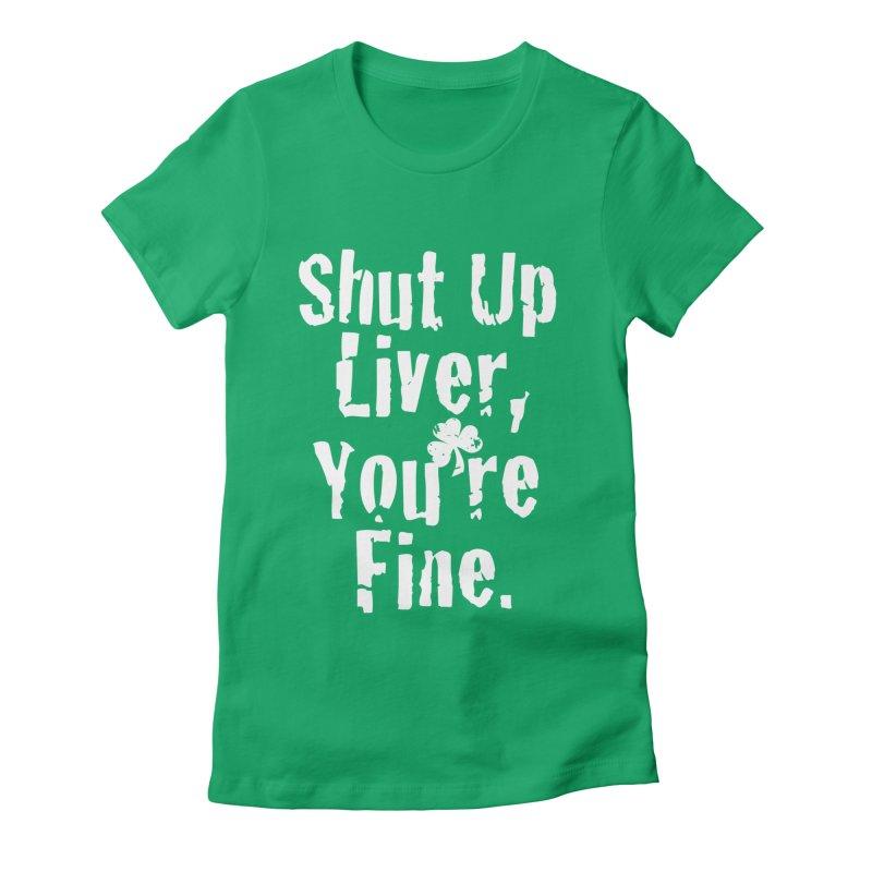 Liver Schmivver Drinking Tee Women's T-Shirt by Pittie Chicks