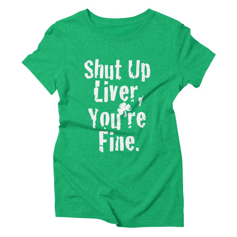 Liver Schmivver Drinking Tee Women's Triblend T-Shirt by Pittie Chicks