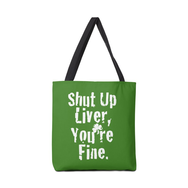 Liver Schmivver Drinking Tee Accessories Tote Bag Bag by Pittie Chicks