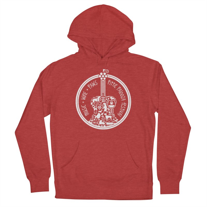 Pittie Palooza Official Design - White Ink Women's French Terry Pullover Hoody by Pittie Chicks
