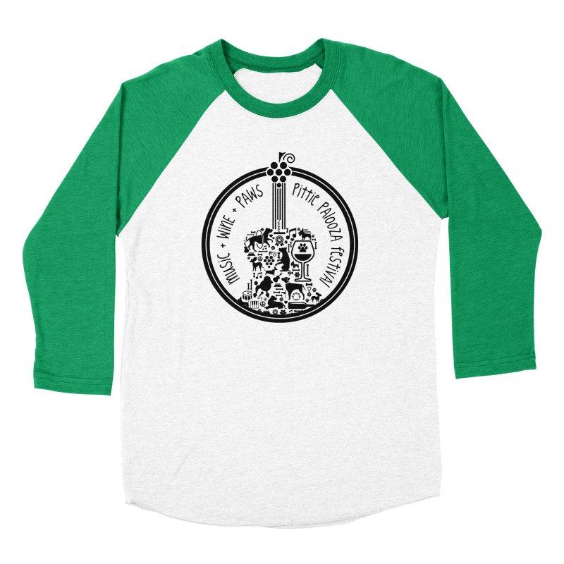 Pittie Palooza Official Design - Black Ink Women's Baseball Triblend Longsleeve T-Shirt by Pittie Chicks