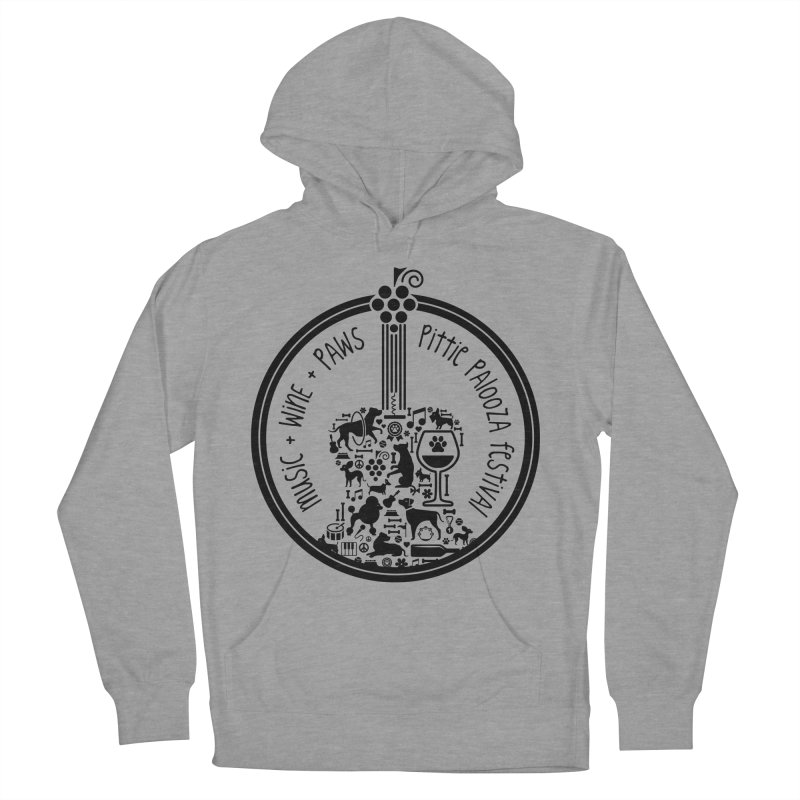Pittie Palooza Official Design - Black Ink Men's French Terry Pullover Hoody by Pittie Chicks