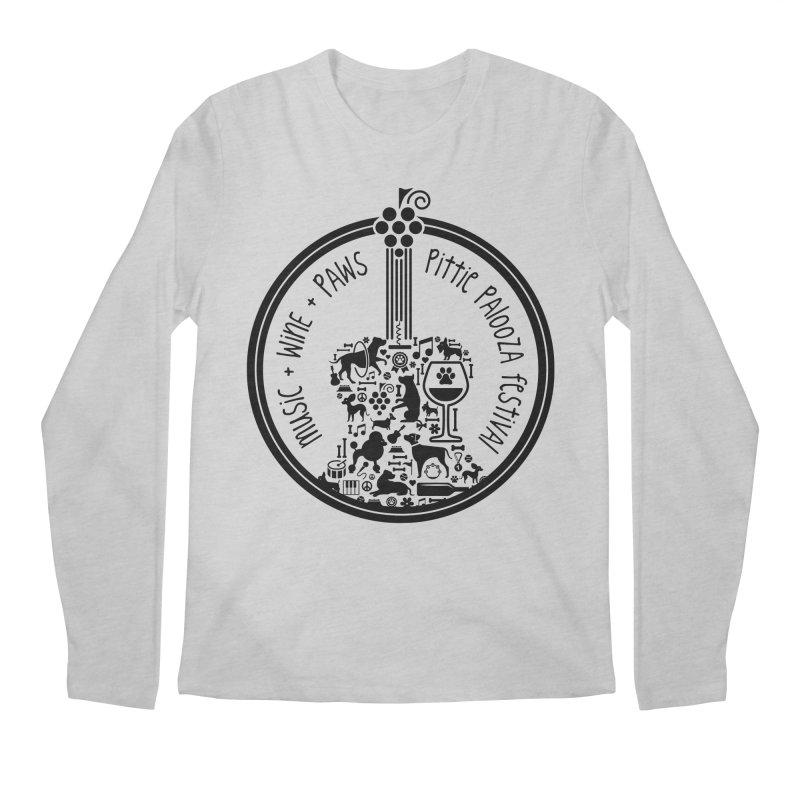 Pittie Palooza Official Design - Black Ink Men's Regular Longsleeve T-Shirt by Pittie Chicks