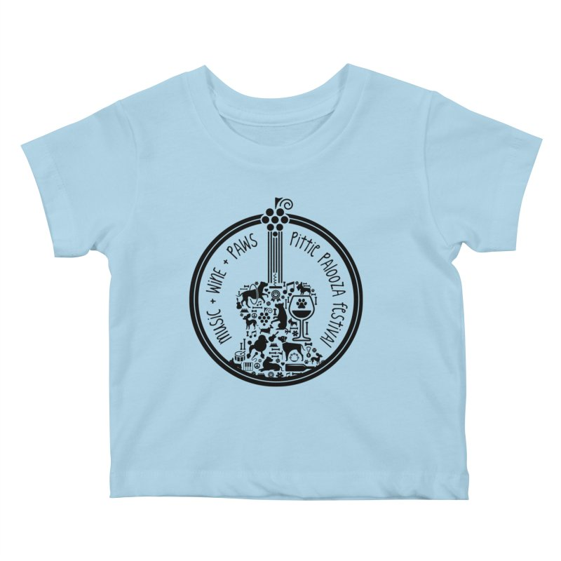 Pittie Palooza Official Design - Black Ink Kids Baby T-Shirt by Pittie Chicks