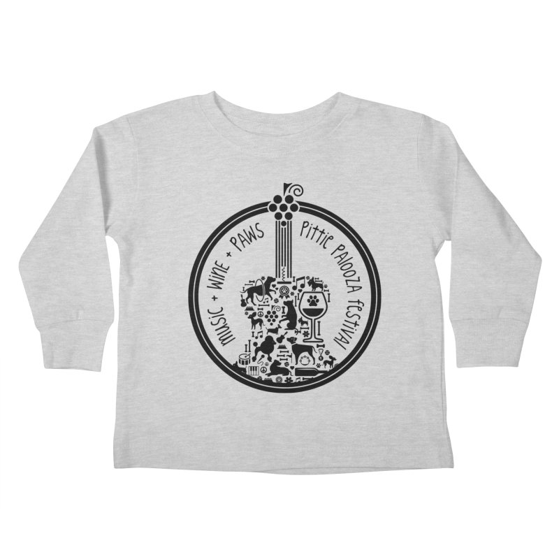Pittie Palooza Official Design - Black Ink Kids Toddler Longsleeve T-Shirt by Pittie Chicks