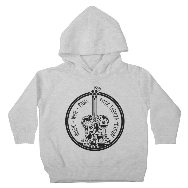 Pittie Palooza Official Design - Black Ink Kids Toddler Pullover Hoody by Pittie Chicks