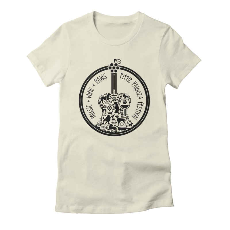 Pittie Palooza Official Design - Black Ink Women's Fitted T-Shirt by Pittie Chicks
