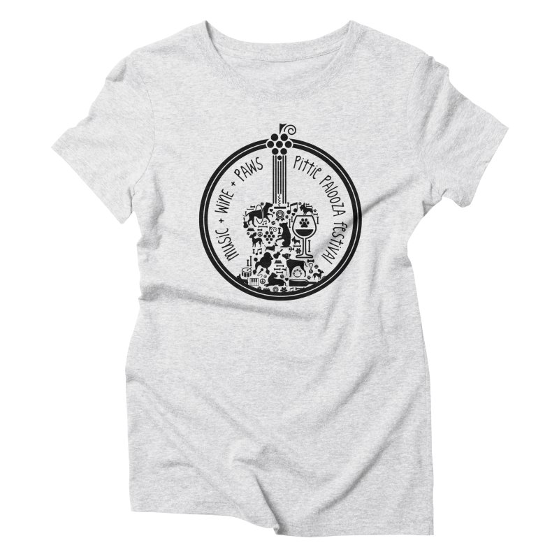 Pittie Palooza Official Design - Black Ink Women's T-Shirt by Pittie Chicks