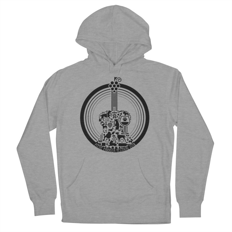 Pittie Palooza Official Design - Black Ink Men's Pullover Hoody by Pittie Chicks