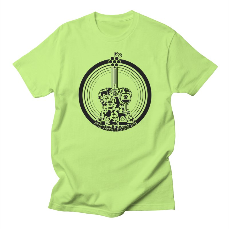 Pittie Palooza Official Design - Black Ink Men's T-Shirt by Pittie Chicks