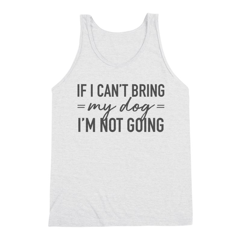 Nope. Not Going. Men's Triblend Tank by Pittie Chicks