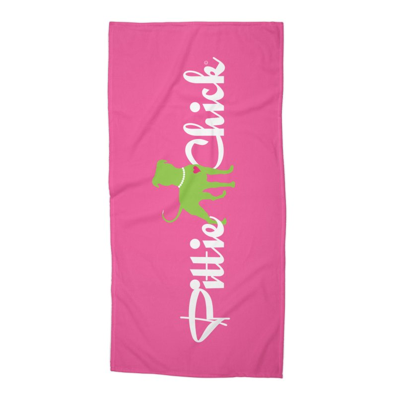 Pittie Chick - Pit in Pearls Accessories Beach Towel by Pittie Chicks