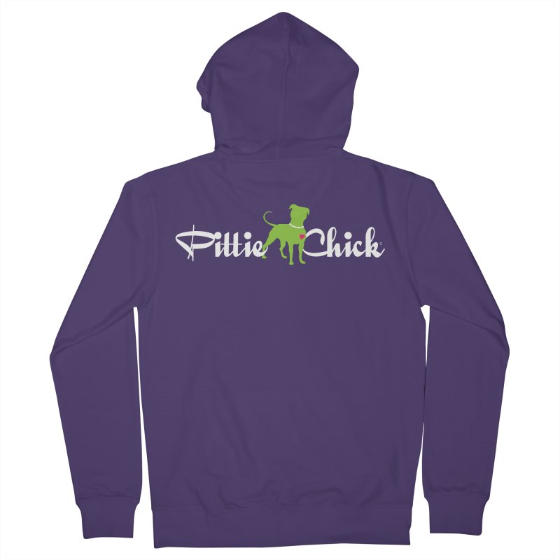 Pittie Chick - Pit in Pearls Women's Zip-Up Hoody by Pittie Chicks