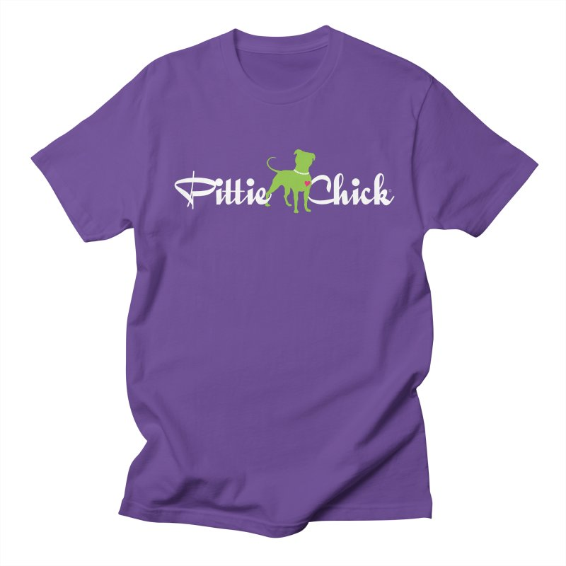 Pittie Chick - Pit in Pearls Men's T-shirt by Pittie Chicks
