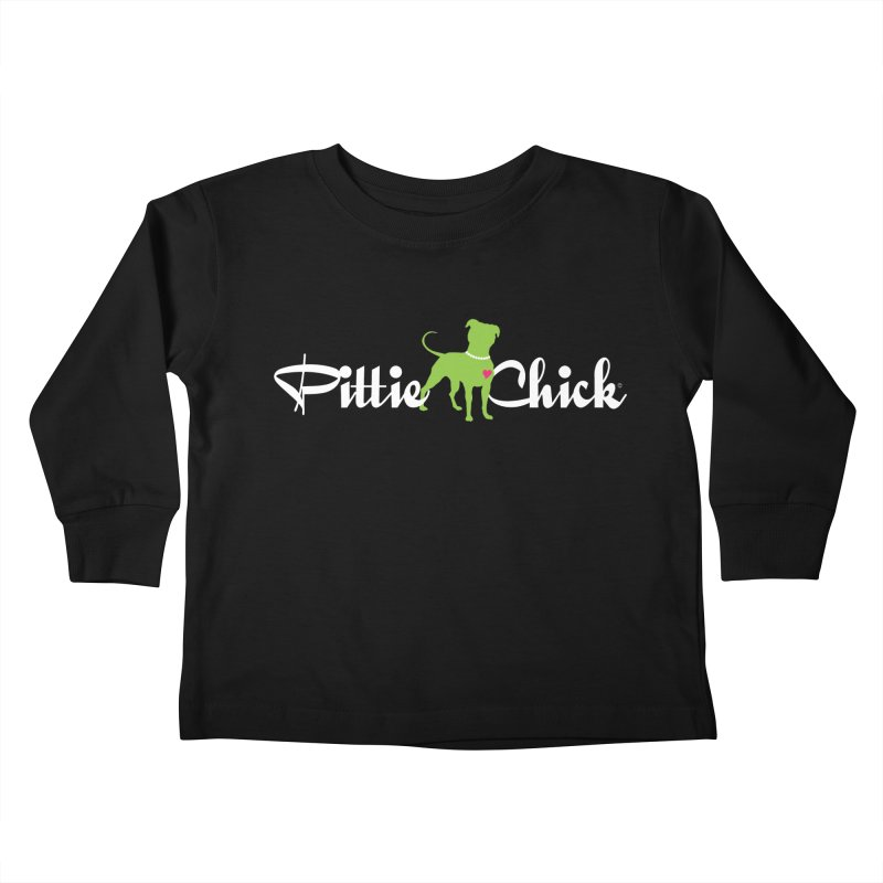 Pittie Chick - Pit in Pearls Kids Toddler Longsleeve T-Shirt by Pittie Chicks