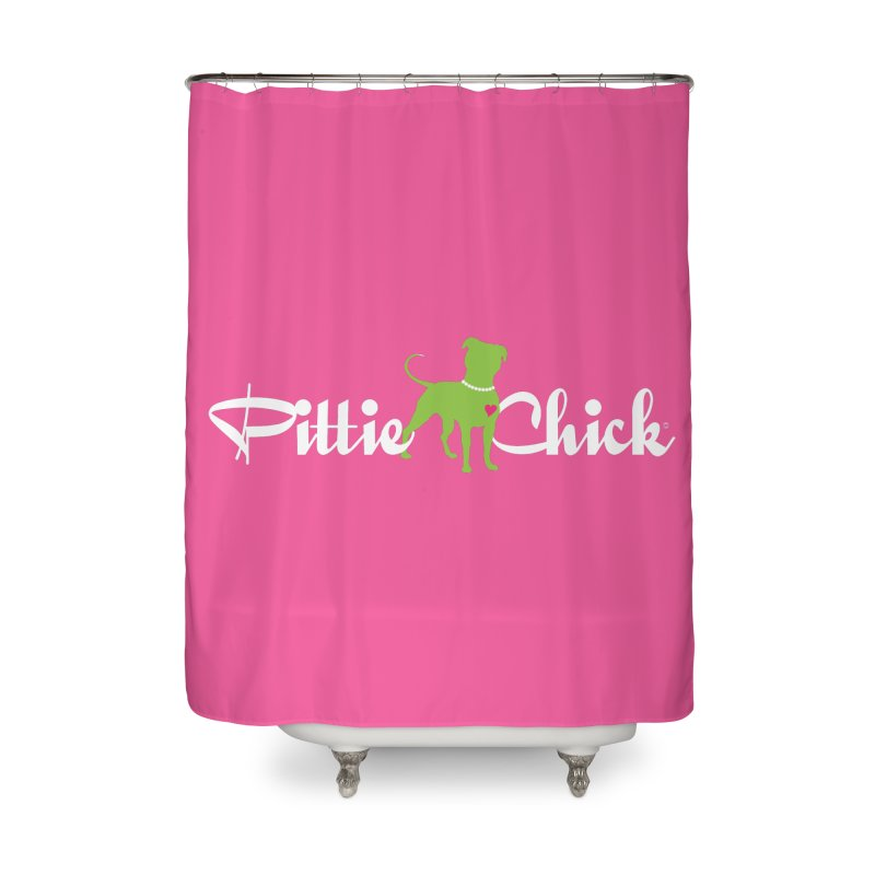 Pittie Chick - Pit in Pearls Home Shower Curtain by Pittie Chicks