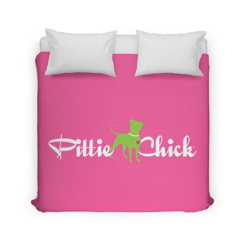 Pittie Chick - Pit in Pearls Home Duvet by Pittie Chicks