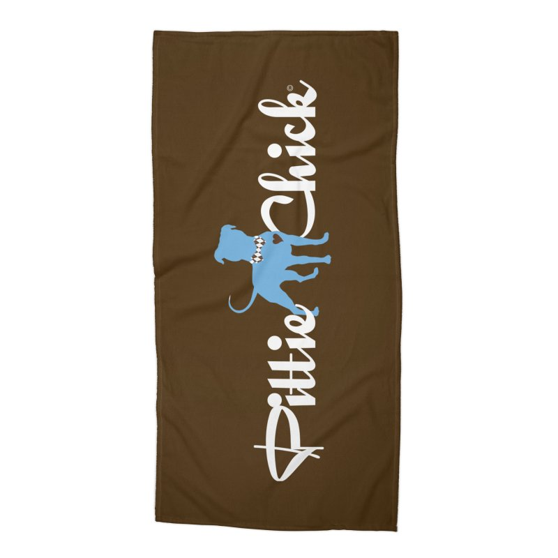 Pittie Chicks - Bow Tie Pit Bull Accessories Beach Towel by Pittie Chicks