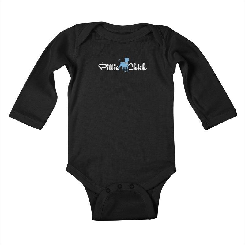 Pittie Chicks - Bow Tie Pit Bull Kids Baby Longsleeve Bodysuit by Pittie Chicks