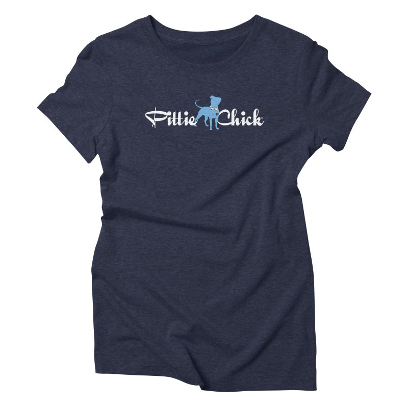 Pittie Chicks - Bow Tie Pit Bull Women's Triblend T-shirt by Pittie Chicks