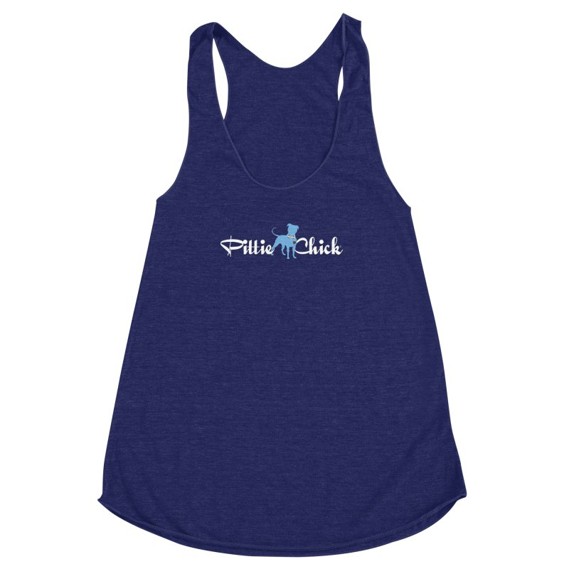 Pittie Chicks - Bow Tie Pit Bull Women's Racerback Triblend Tank by Pittie Chicks