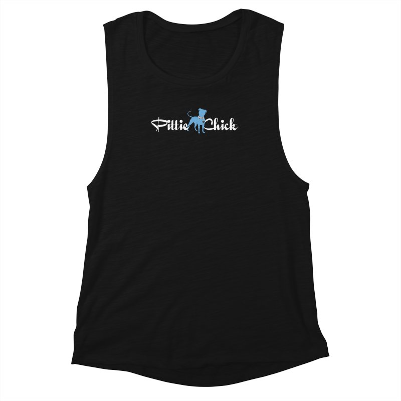 Pittie Chicks - Bow Tie Pit Bull Women's Muscle Tank by Pittie Chicks