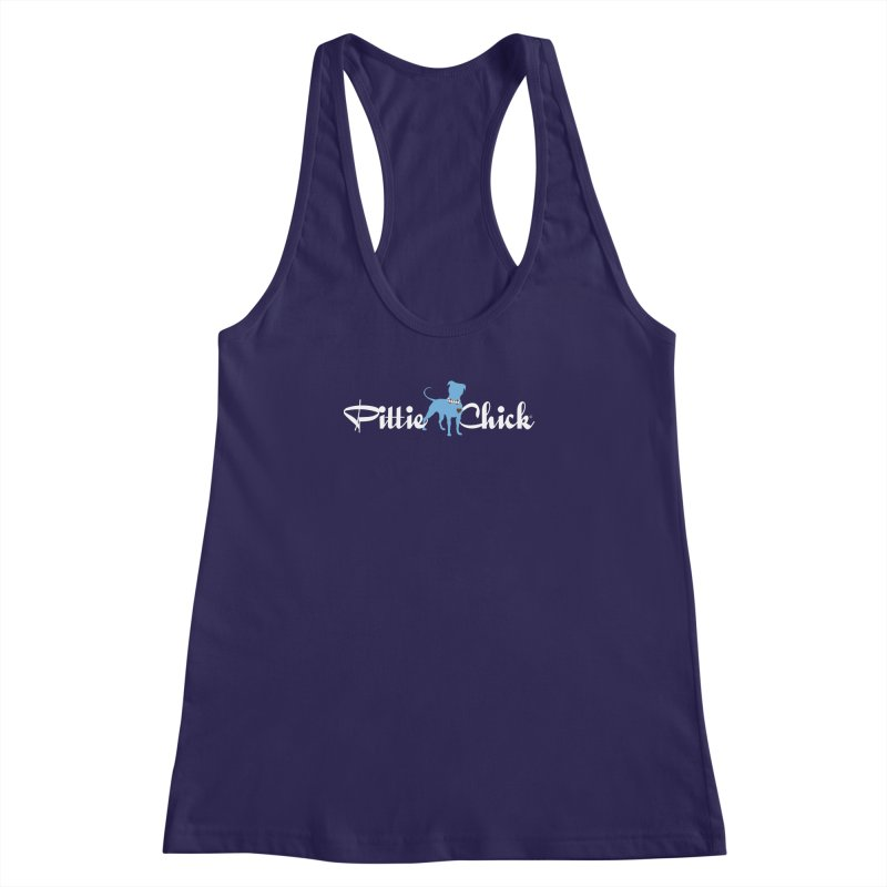Pittie Chicks - Bow Tie Pit Bull Women's Racerback Tank by Pittie Chicks