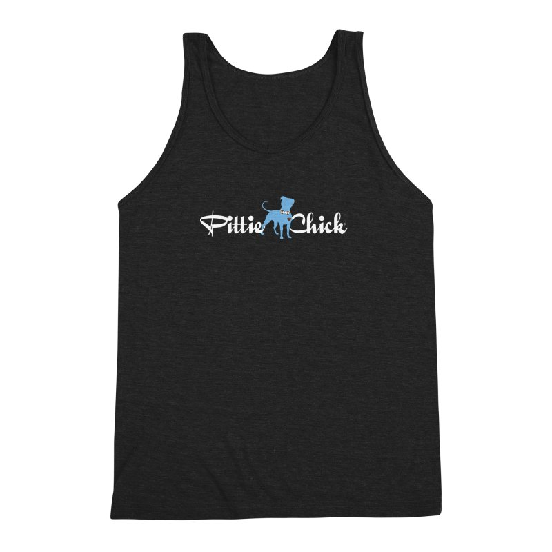 Pittie Chicks - Bow Tie Pit Bull Men's Triblend Tank by Pittie Chicks