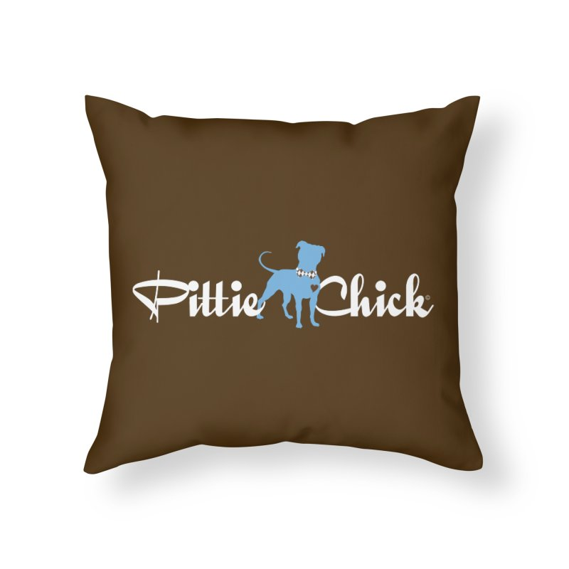 Pittie Chicks - Bow Tie Pit Bull Home Throw Pillow by Pittie Chicks