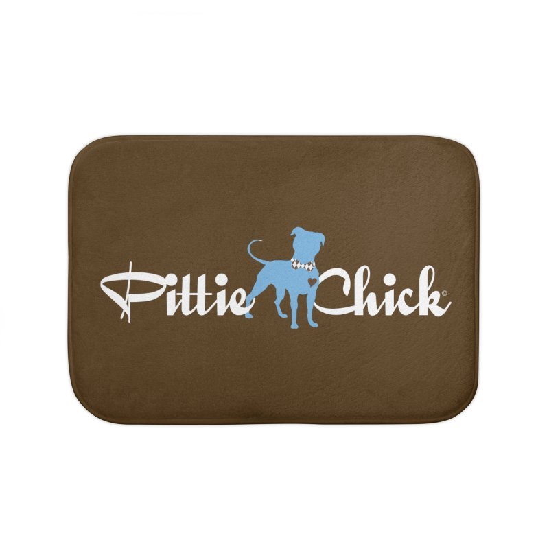 Pittie Chicks - Bow Tie Pit Bull Home Bath Mat by Pittie Chicks