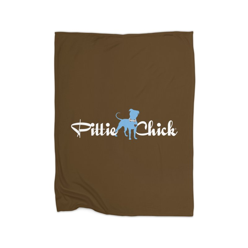 Pittie Chicks - Bow Tie Pit Bull Home Blanket by Pittie Chicks