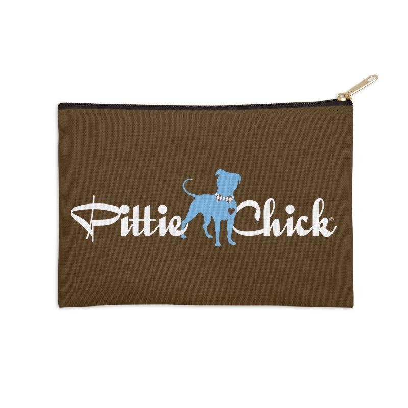 Pittie Chicks - Bow Tie Pit Bull Accessories Zip Pouch by Pittie Chicks