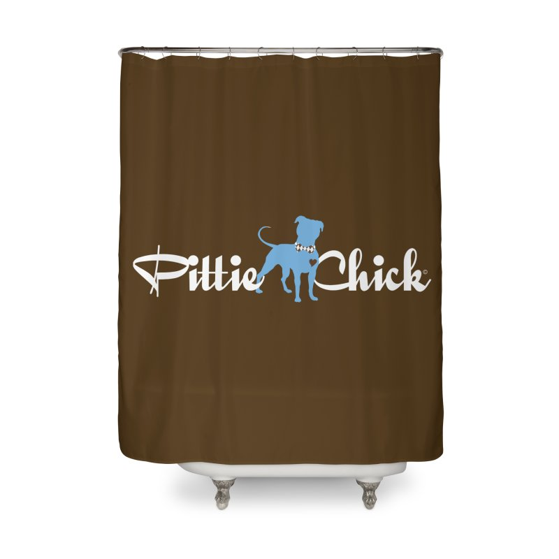 Pittie Chicks - Bow Tie Pit Bull Home Shower Curtain by Pittie Chicks