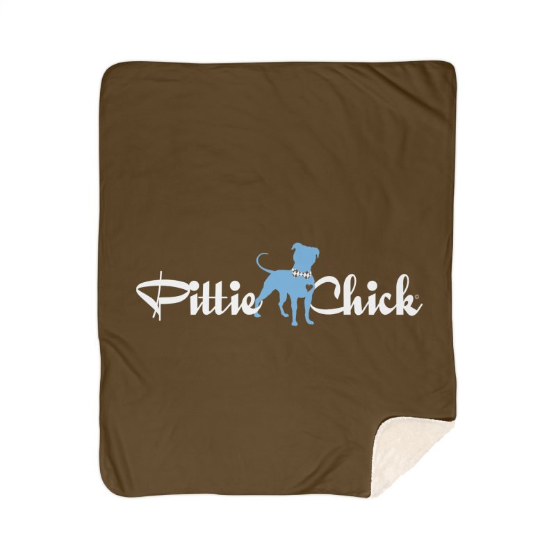Pittie Chicks - Bow Tie Pit Bull Home Sherpa Blanket Blanket by Pittie Chicks