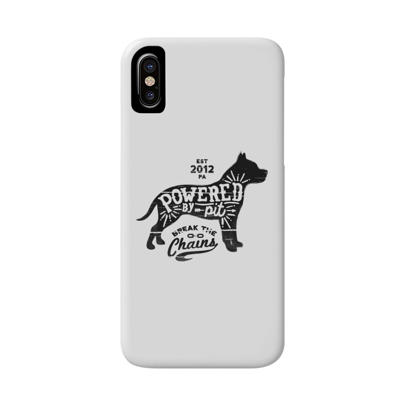 Powered By Pit Grit Accessories Phone Case by Pittie Chicks