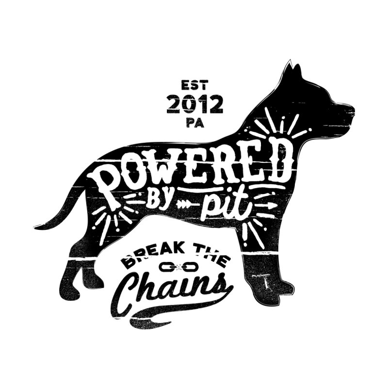 Powered By Pit Grit Men's Tank by Pittie Chicks