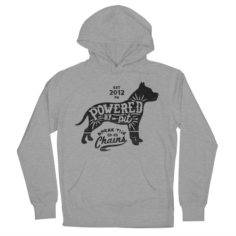 Powered By Pit Grit Men's French Terry Pullover Hoody by Pittie Chicks