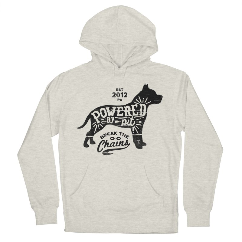 Powered By Pit Grit Men's Pullover Hoody by Pittie Chicks