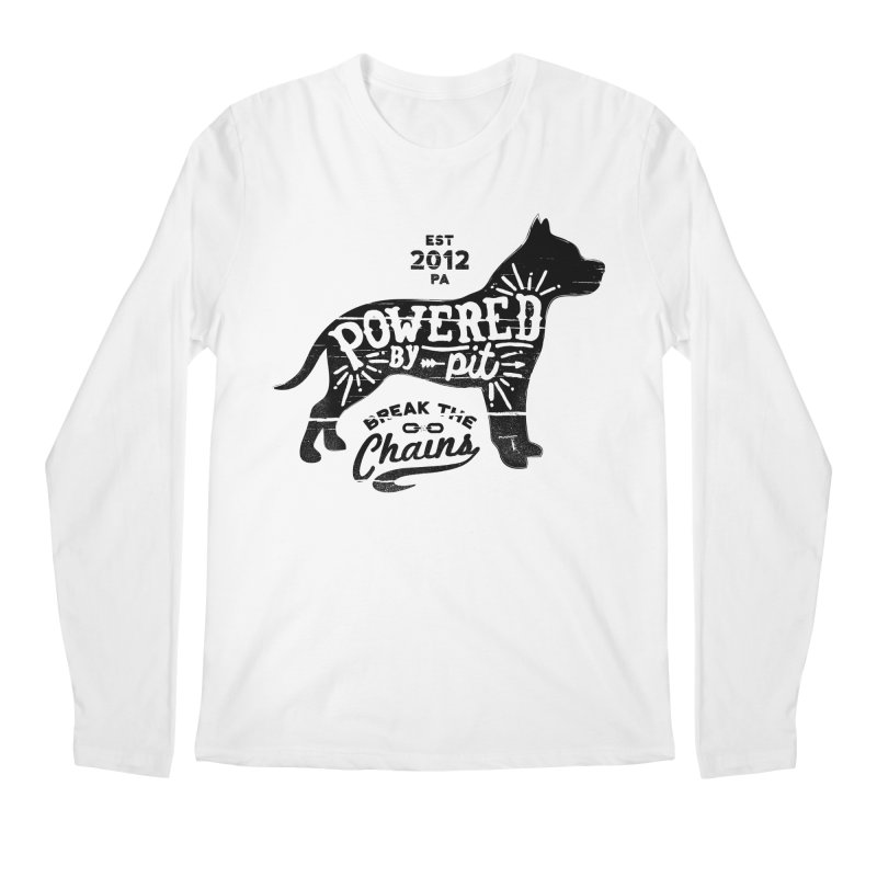 Powered By Pit Grit Men's Longsleeve T-Shirt by Pittie Chicks