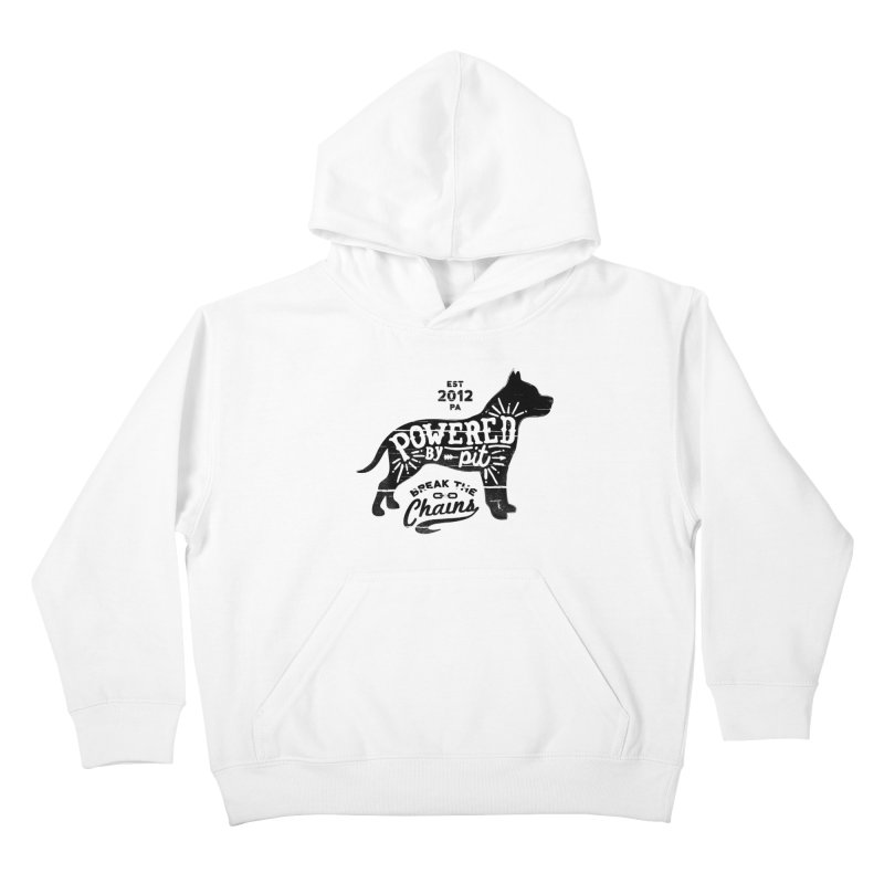 Powered By Pit Grit Kids Pullover Hoody by Pittie Chicks